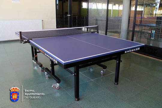 Sala de tenis de mesa en el pabellón