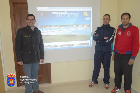 El personal de la Concejalía de Deportes presenta la nueva web