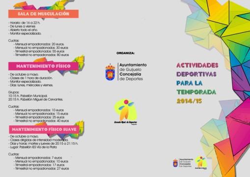 EXTERIOR FOLLETO ACTIVIDADES DEPORTES20142015 copia