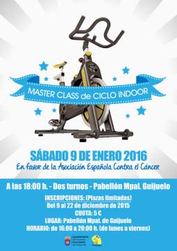 cartel master class ciclo indoor