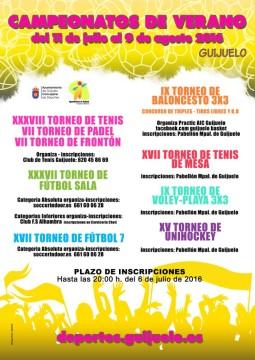 CARTEL CAMPEONATOS DE VERANO 2016