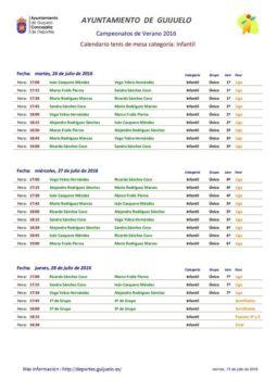 Calendario tenis mesa