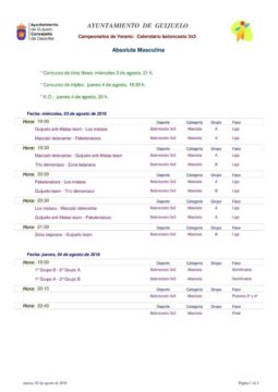 Calendario baloncesto 3x3